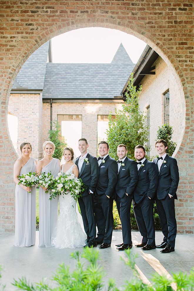 wedding party photos, bridal party, groom, bride, groomsmen, groomswear, attire, bridal gown, bridal bouquet, iron manor