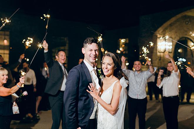 sparkler, send off, grand exit, bride, groom