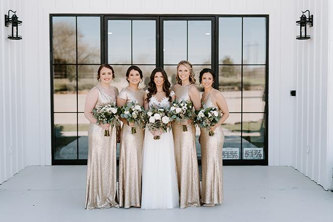 bridal party, bride tribe, champagne, bridesmaids dresses, bridal bouquet, emily figurelli photography