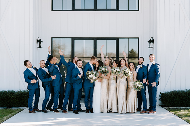 wedding party, groomsmen, navy, suit, groomswear, bridal party, bride tribe, champagne, bridesmaids dresses, bridal bouquet, emily figurelli photography