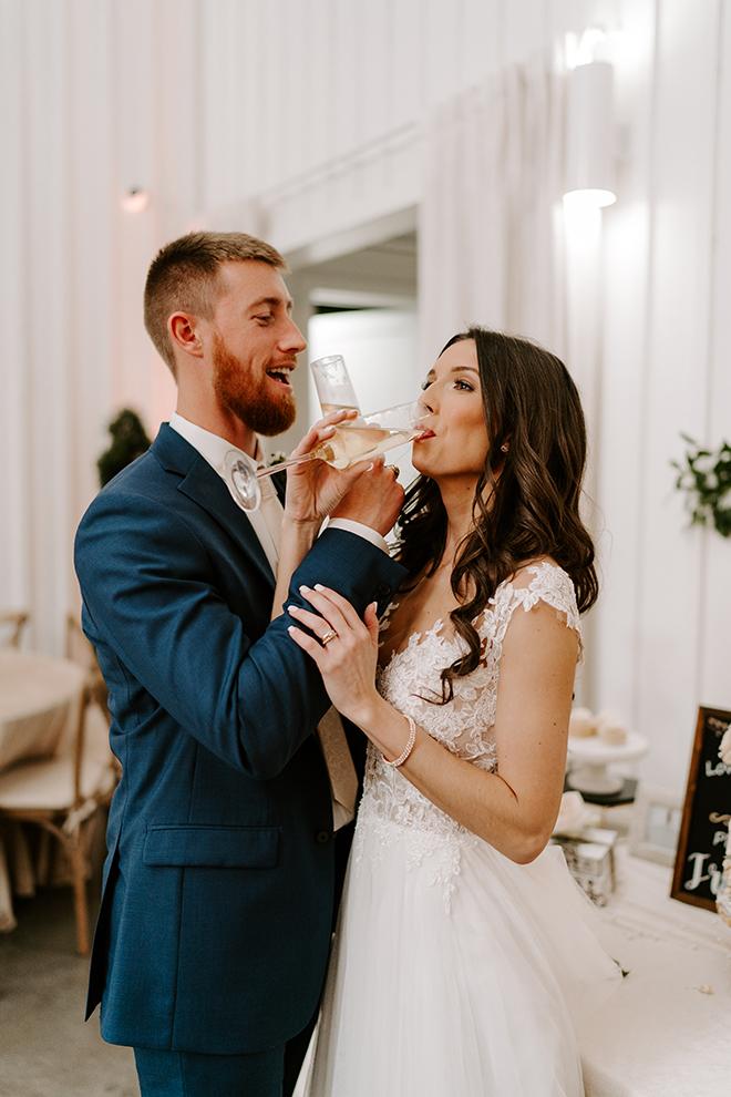 chic wedding, bridal gown, bride, groom, emily figurelli, houston photographer, champagne