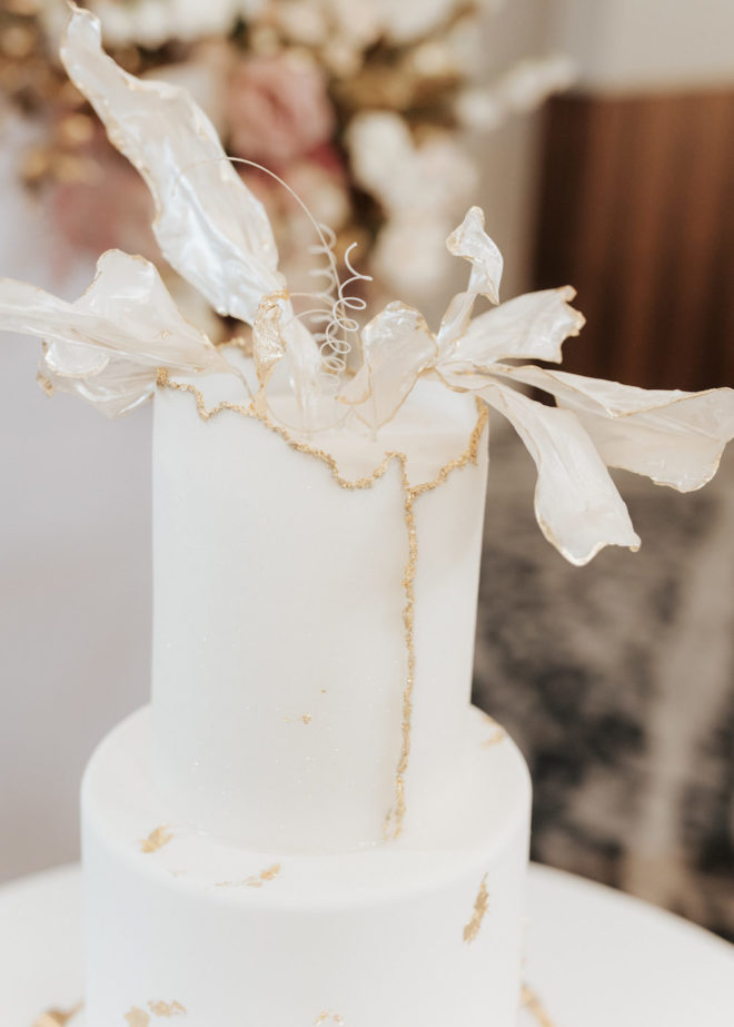 modern, cake details, two tiered cake, floral topper, wedding day details, roses, flowers, reception, cake table, Four Seasons Hotel Houston