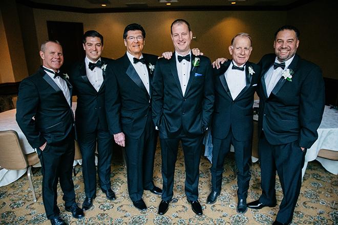 groom portrait, groom, groomswear, groom's suit, black, bow tie, groomsmen