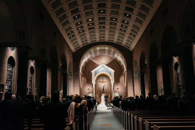 church ceremony, traditional, classic, ceremony decor, bride, groom