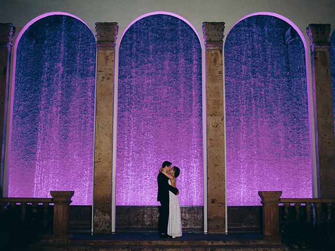 Bell Tower on 34th, water wall, bride, groom, portraits, houston, unique photo ideas