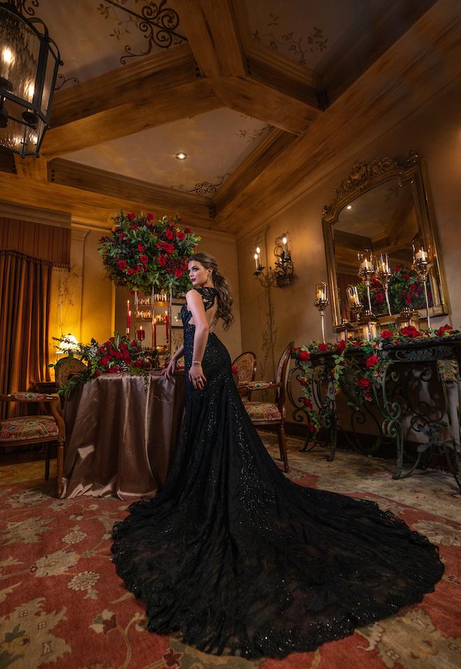 DC Stanley Photography, Hotel Granduca, Black wedding dress, white wedding dress