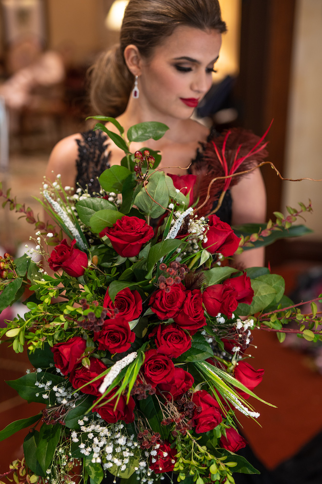 Red Rose Floral Arrangements, style shoot, dc stanley photography