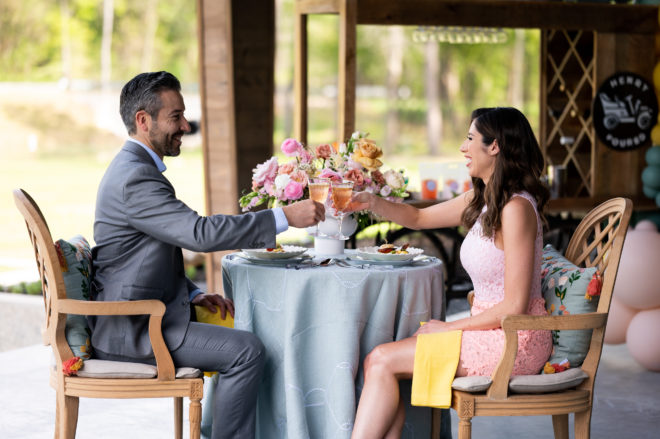 Garden party style shoot with Southern Cadence Cuisine- Catering.