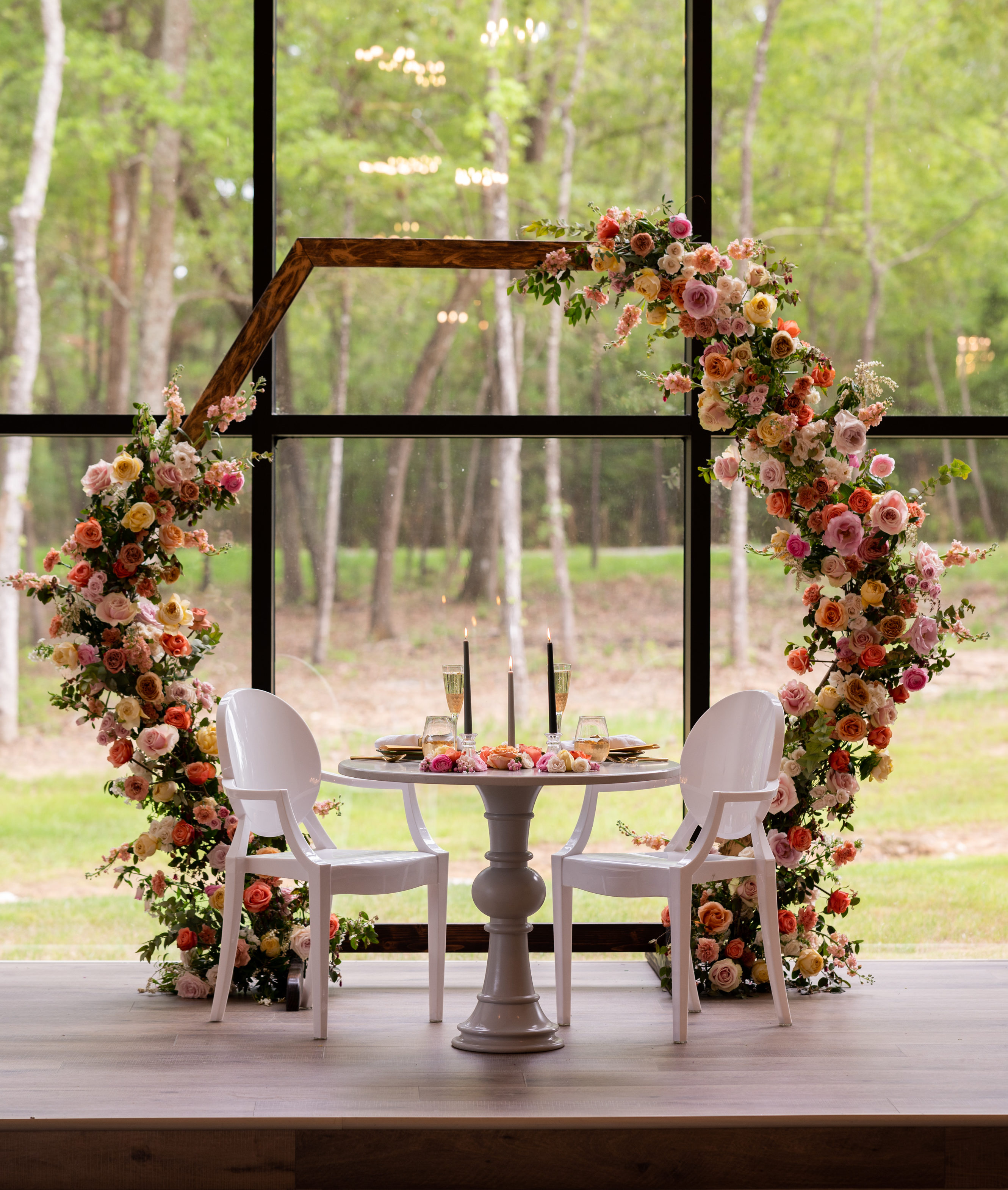 Intimate Floral Backdrop for two.