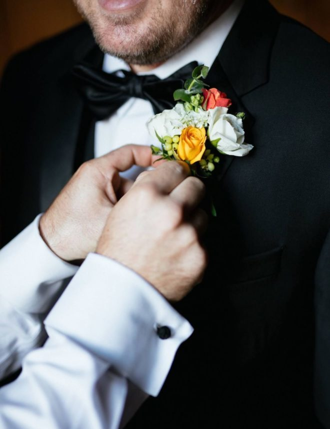 Groom multi floral Boutonniere by tanglewood flowers & garden.
