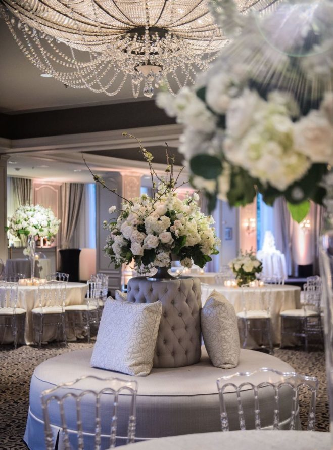 White lush florals by Tanglewood Flowers & Garden.
