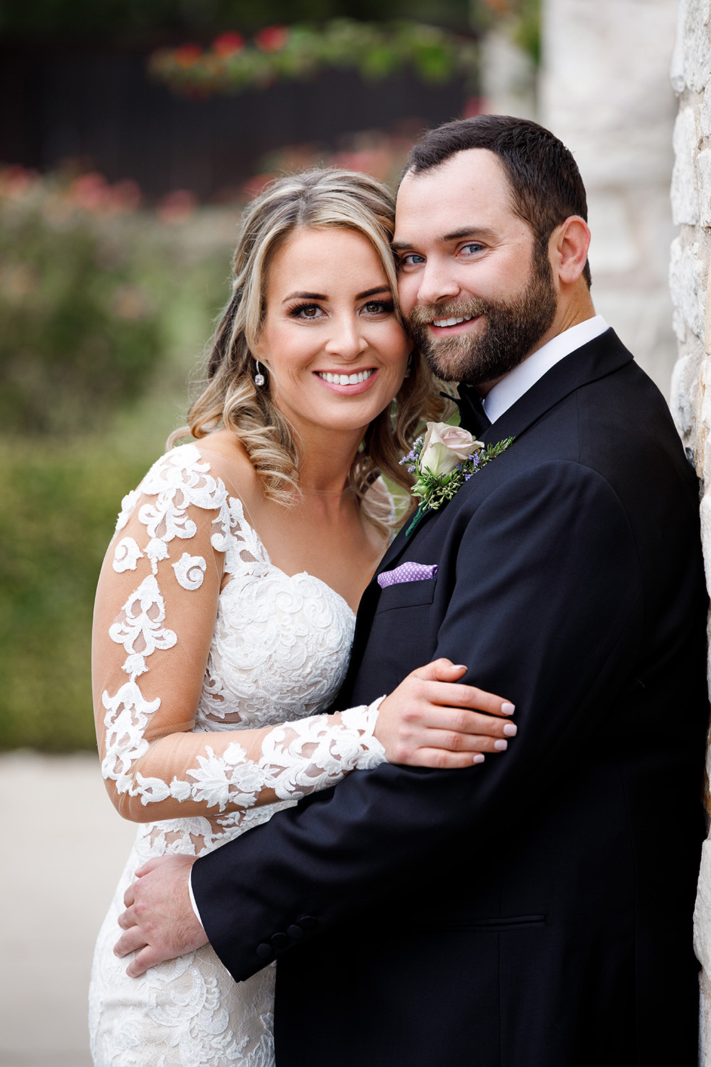 Kristi + Will Real Wedding by Malleret Designs.