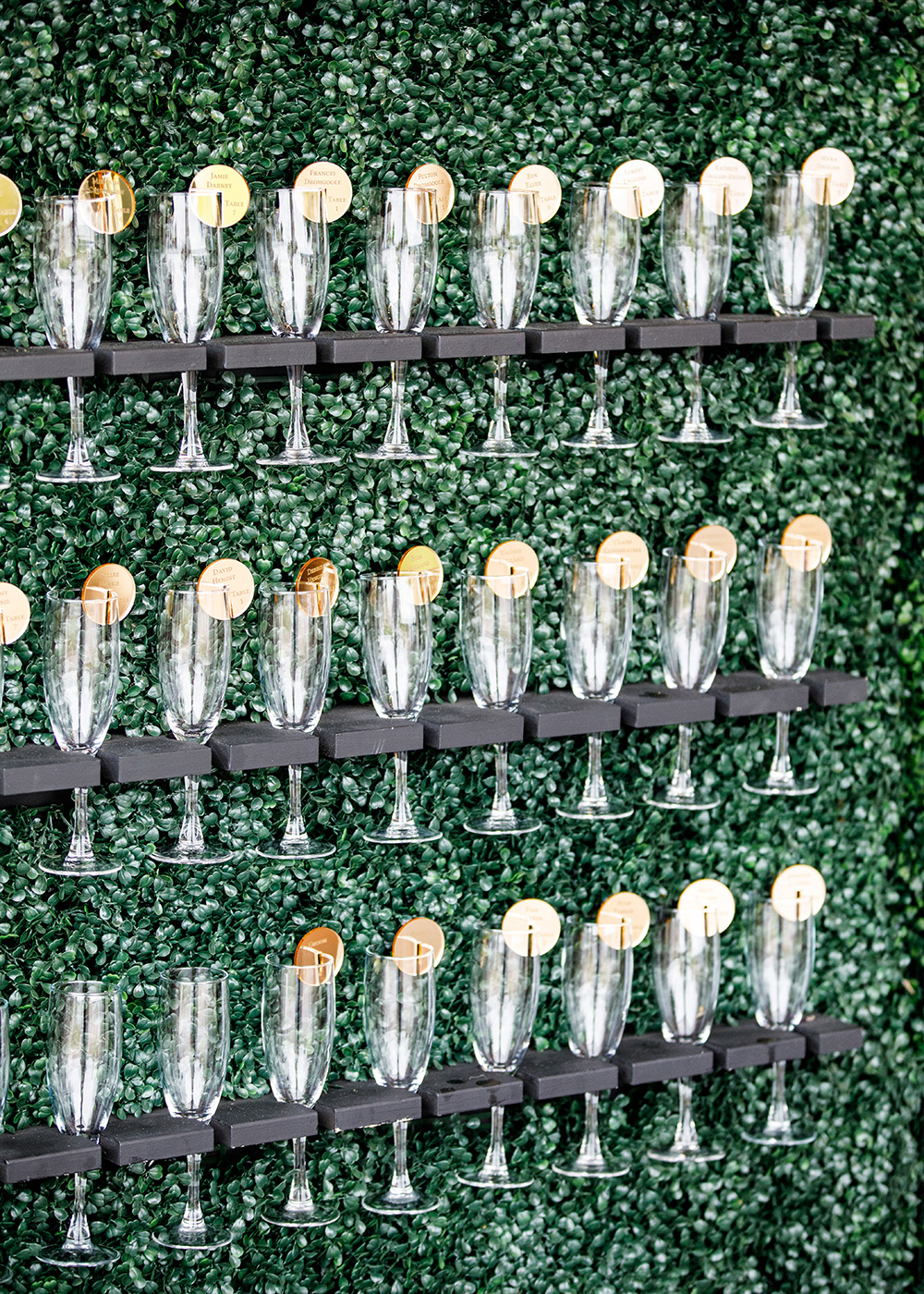 Bridal Champagne Wall to celebrate after the ceremony.