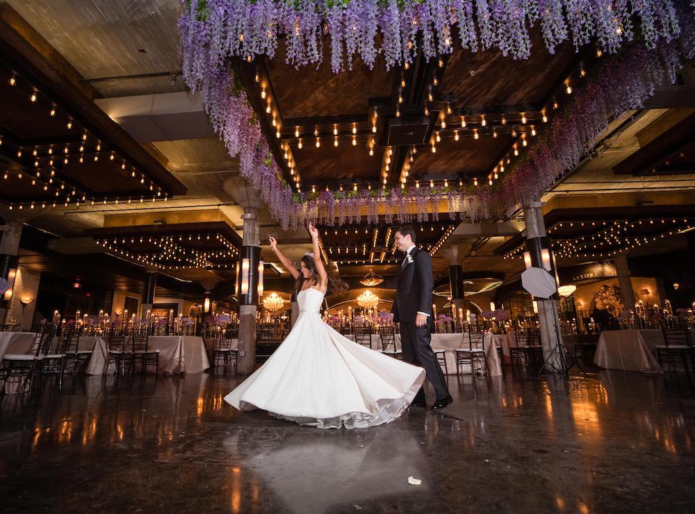 Elegant Lavender, Violet and Ivory Wedding at The Astorian