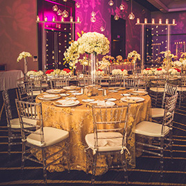 Gold Reception Decor for Indian Wedding
