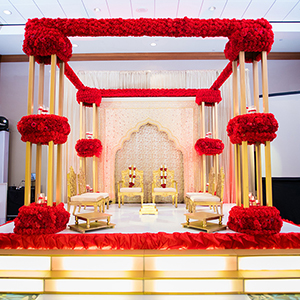 Indian Wedding Ceremony - Gold, Red Decor