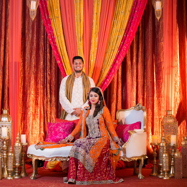 Indian Wedding - Orange Pink