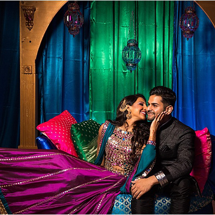 Sangeet & Garden-Themed South Asian Wedding