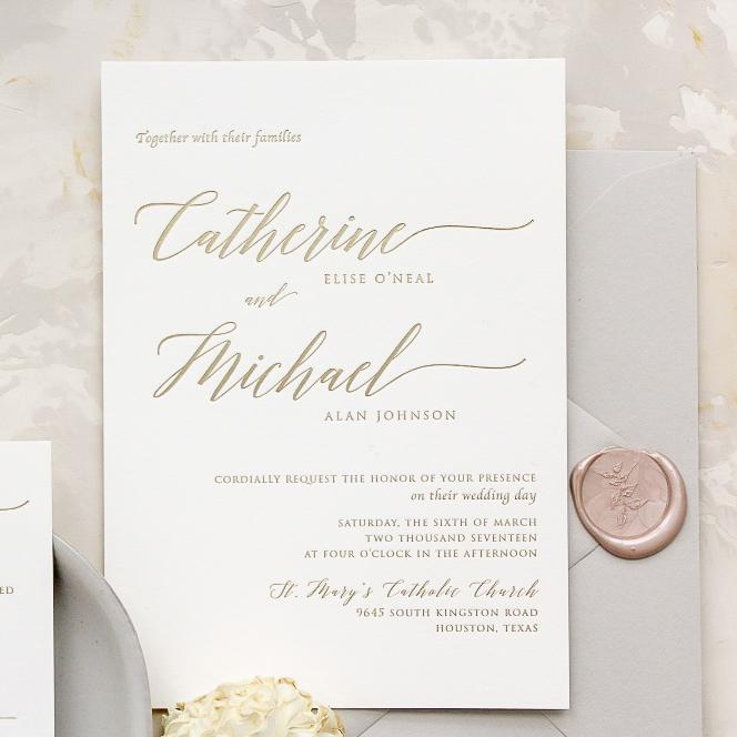 Wedding invitations invitation design weddings in houston isabella invitations houston tx memory lane paperie stopboris Image collections