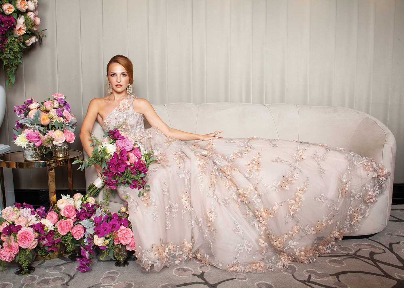 photo: larry fagala location: the post oak hotel  flowers & decor: the events co.  gown: joan pillow