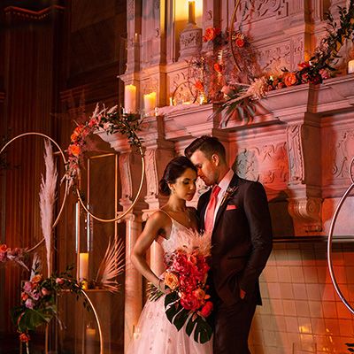 JW Marriott Houston Downtown - Living Coral Wedding Inspiration
