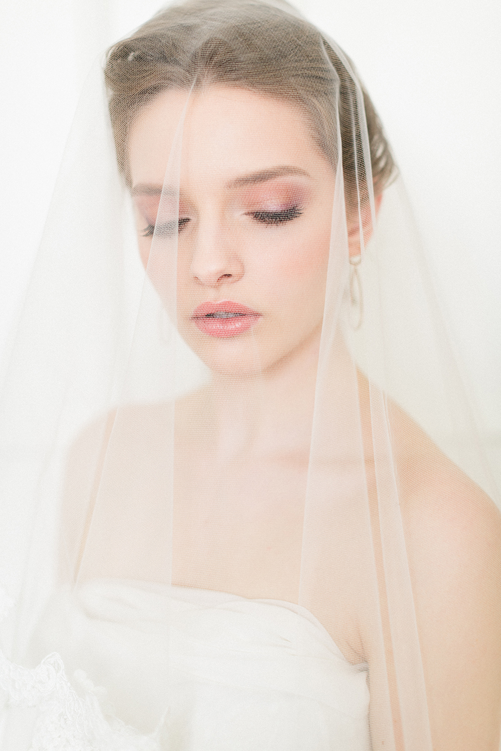 bridal makeup, natural, hairstyle, updo, veil
