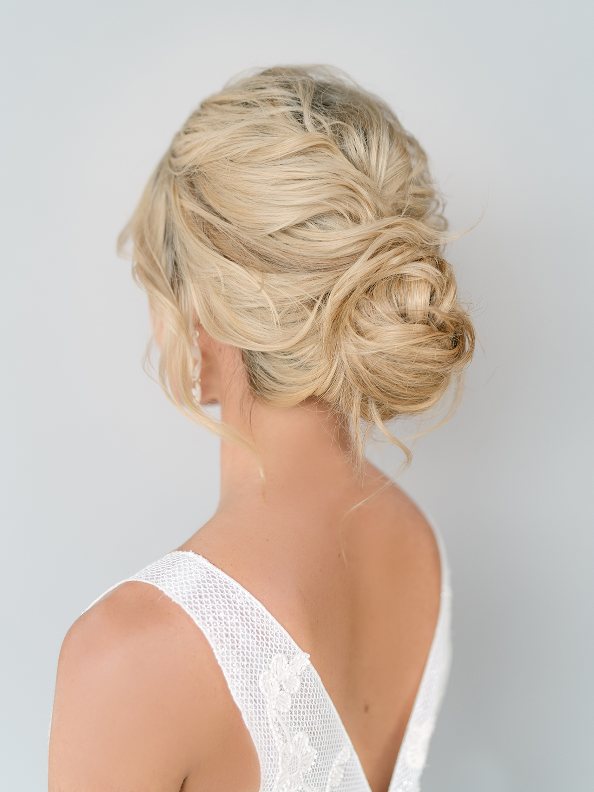 loose bridal bun