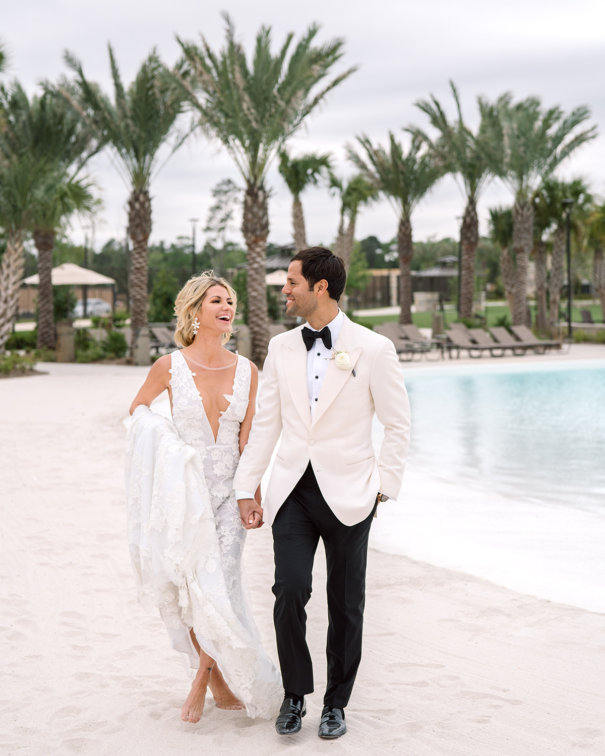 beach wedding in houston blue water