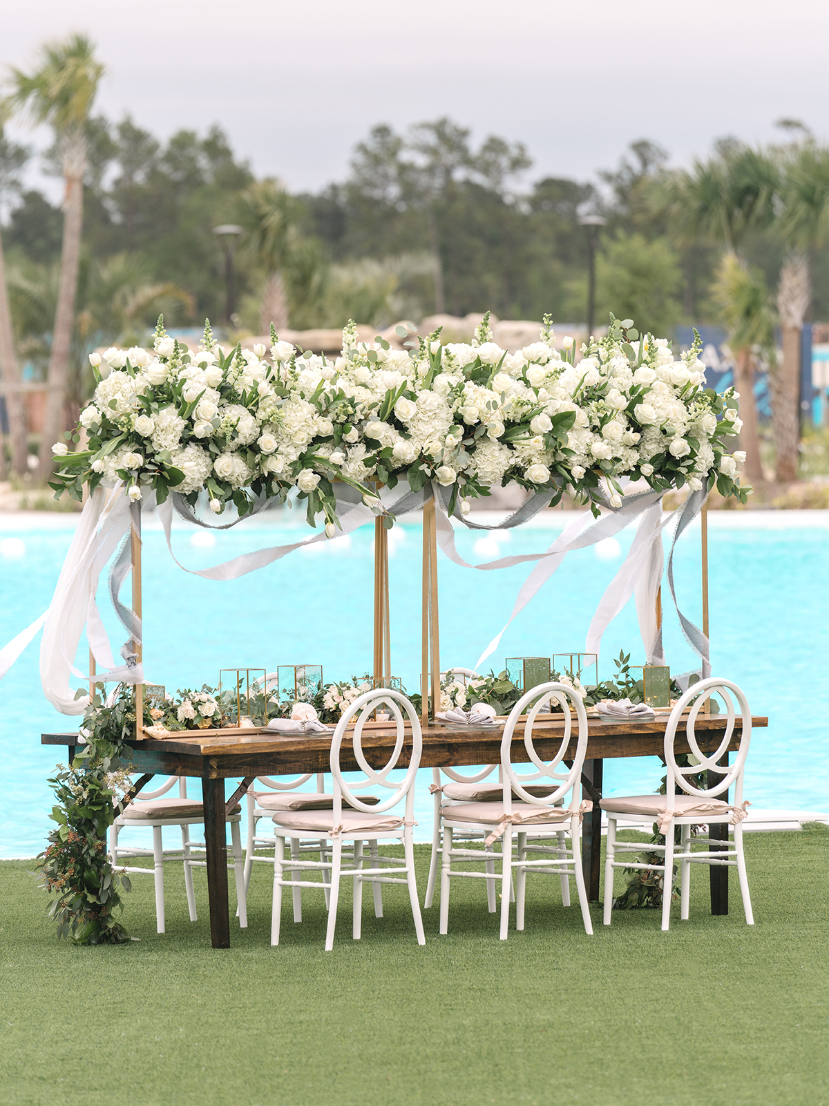 upscale fancy wedding beach table ideas