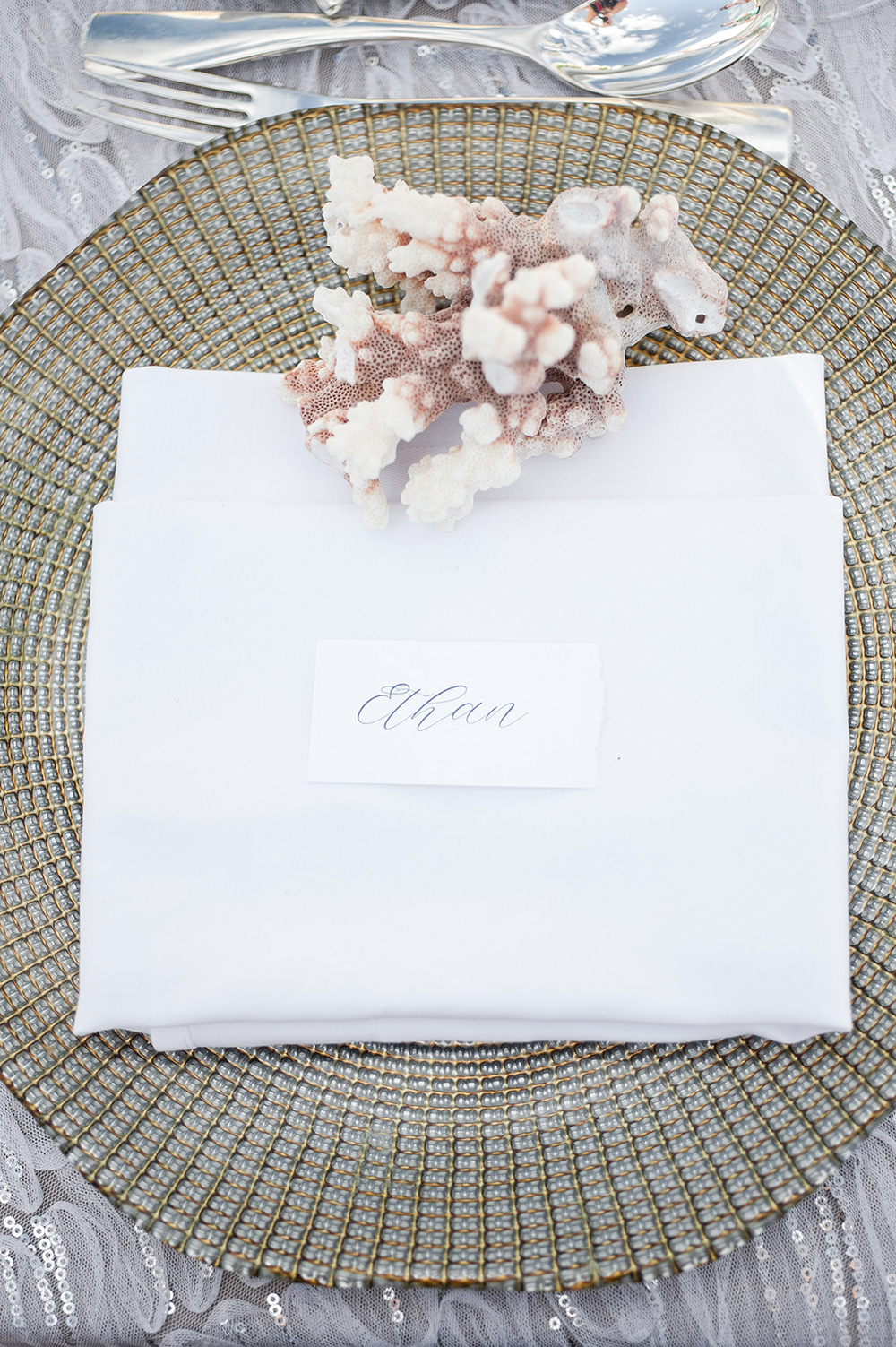 place cards for beach wedding