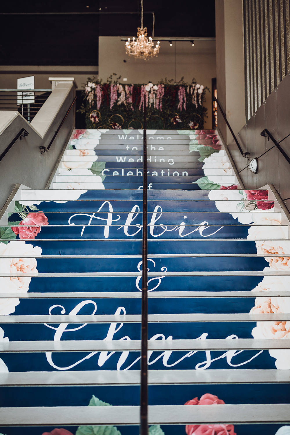 custom staircase - wedding decor