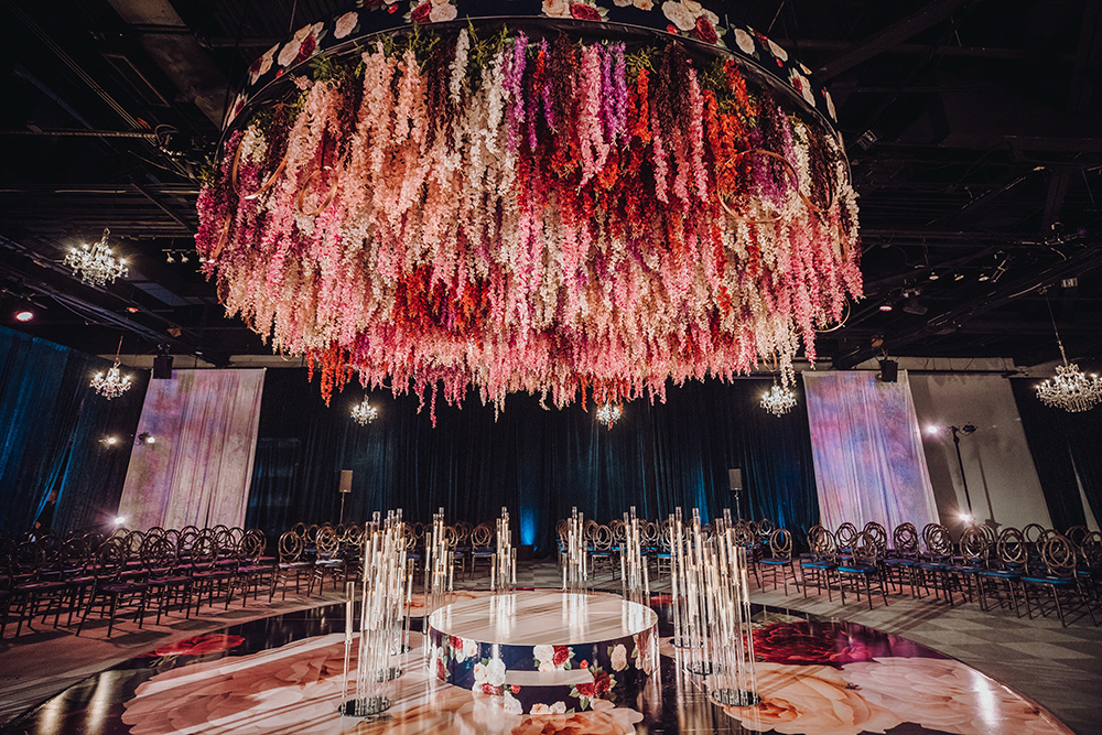 wedding ceremony decor - Dream Bouquet - floral chandelier
