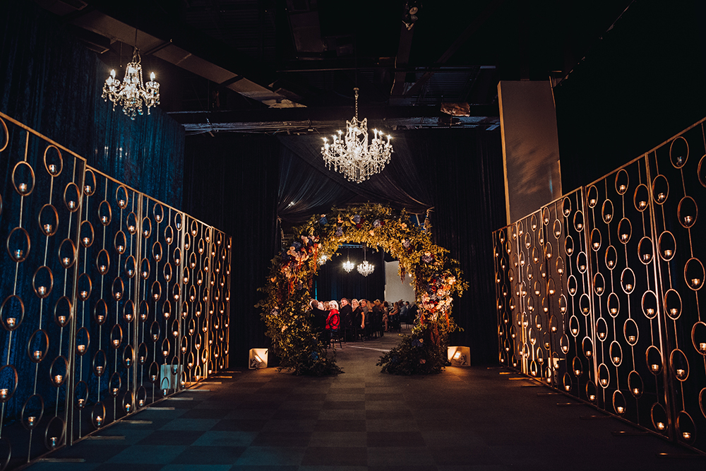 reception entrance - wedding reception