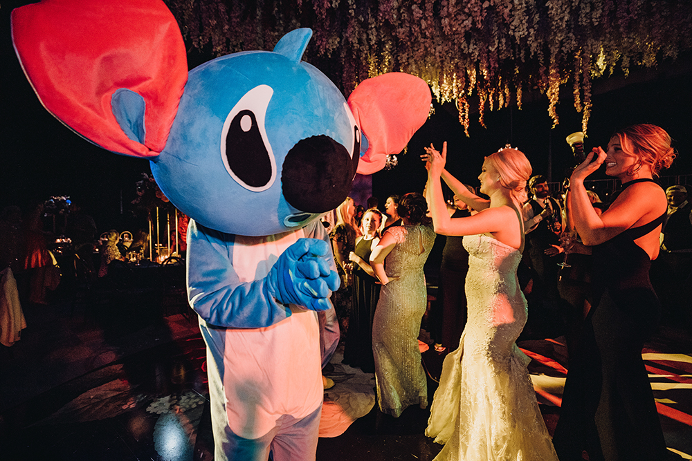 wedding reception entertainment - costumes - Disney characters