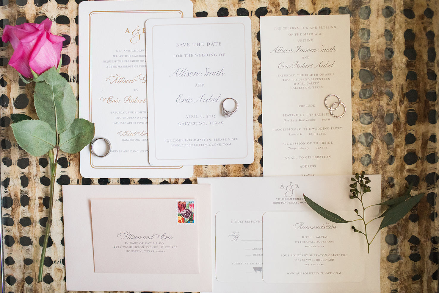 hotel wedding, invitations, stationary suite