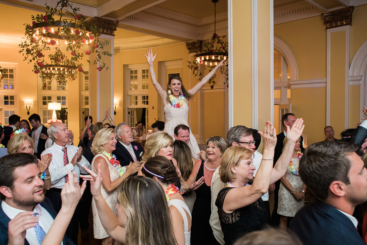 hotel wedding, reception, wedding guests, dance floor