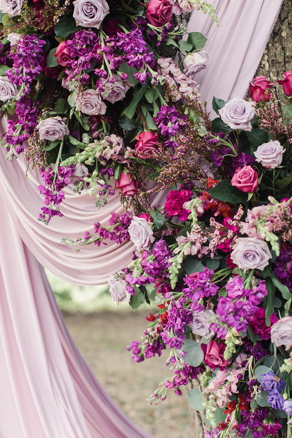 wedding ceremony decor - florals - outdoors