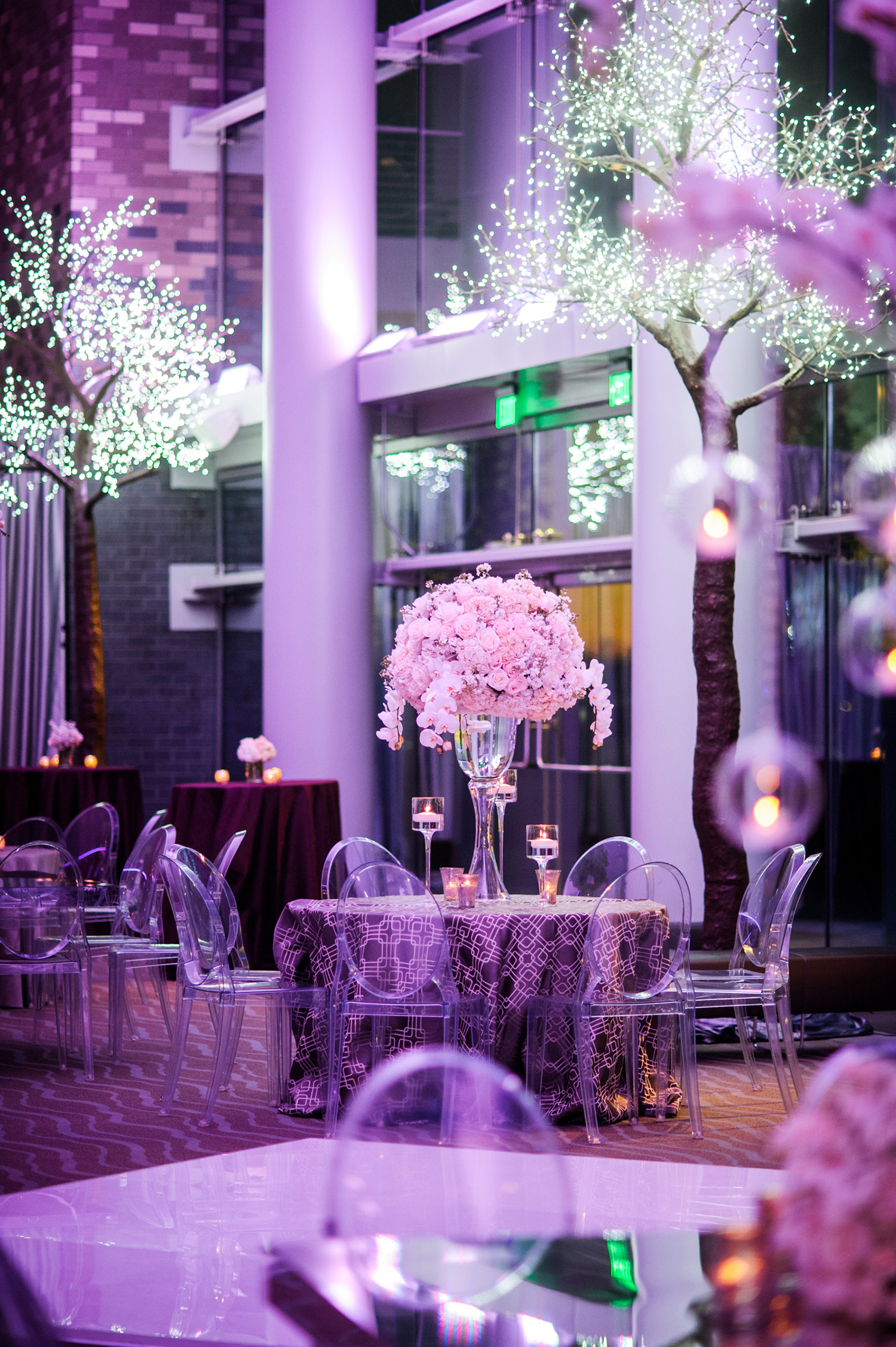 purple lighting - concert style party wedding