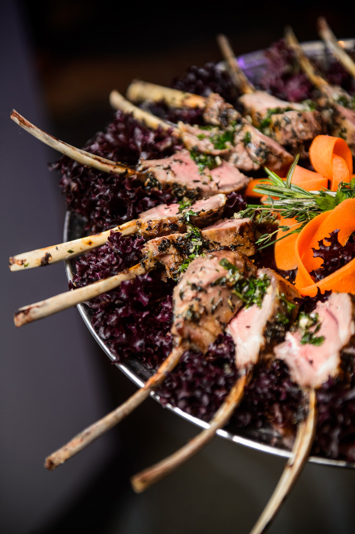 catering - food - appetizers for wedding reception - lamb