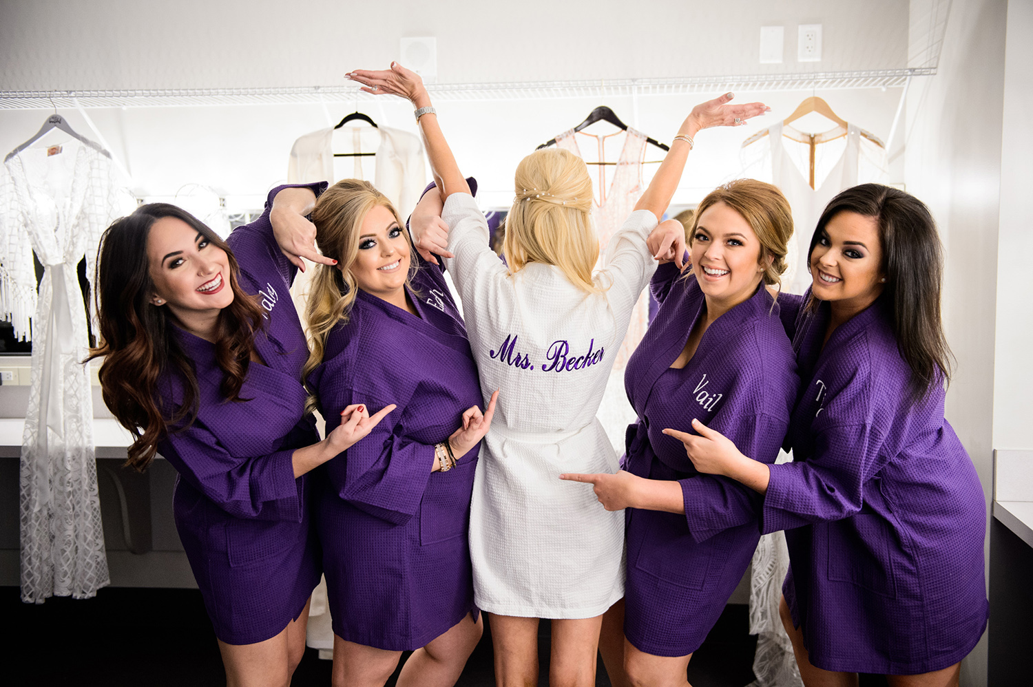 bride tribe robes - purple - bridal party