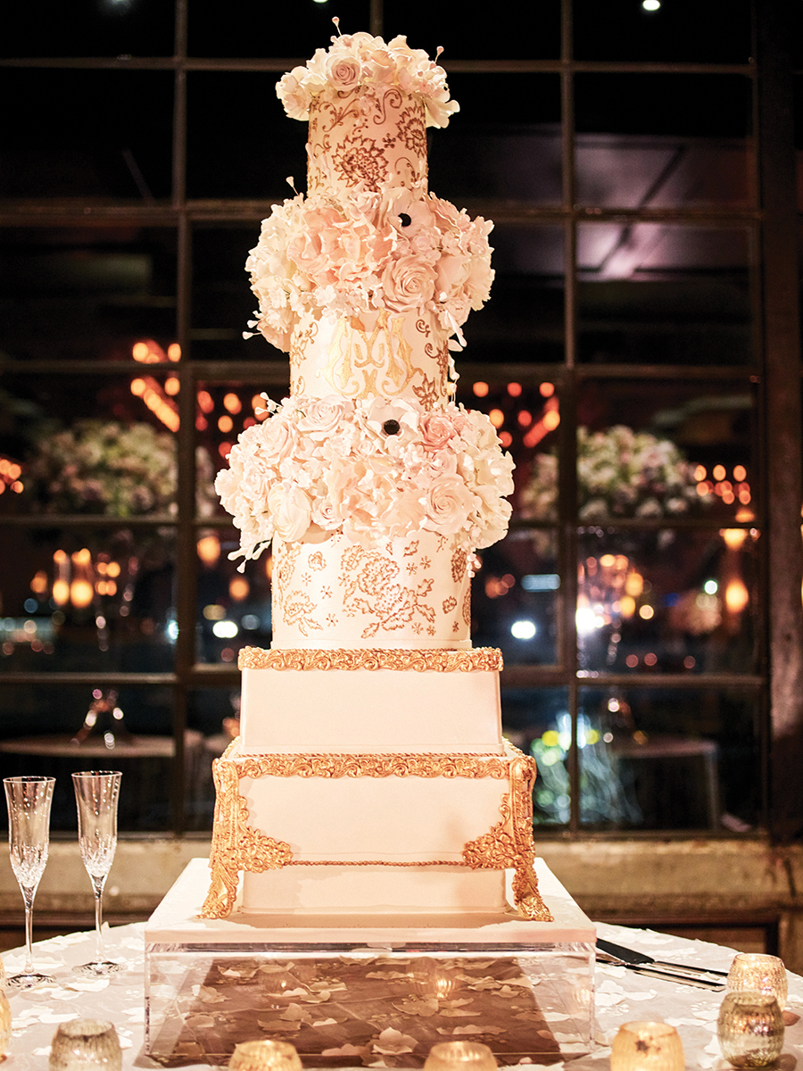 wedding cake design - gold