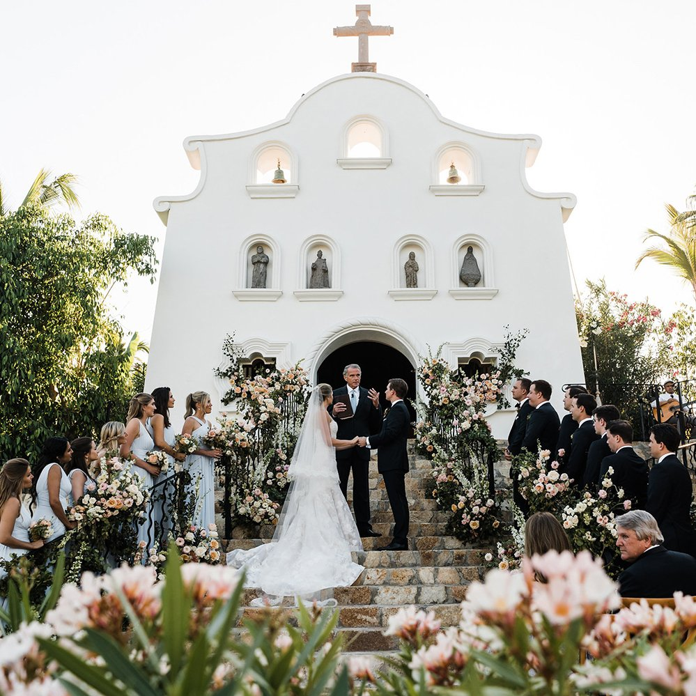 Blush, Rose, Cream & Blue Wedding in Mexico