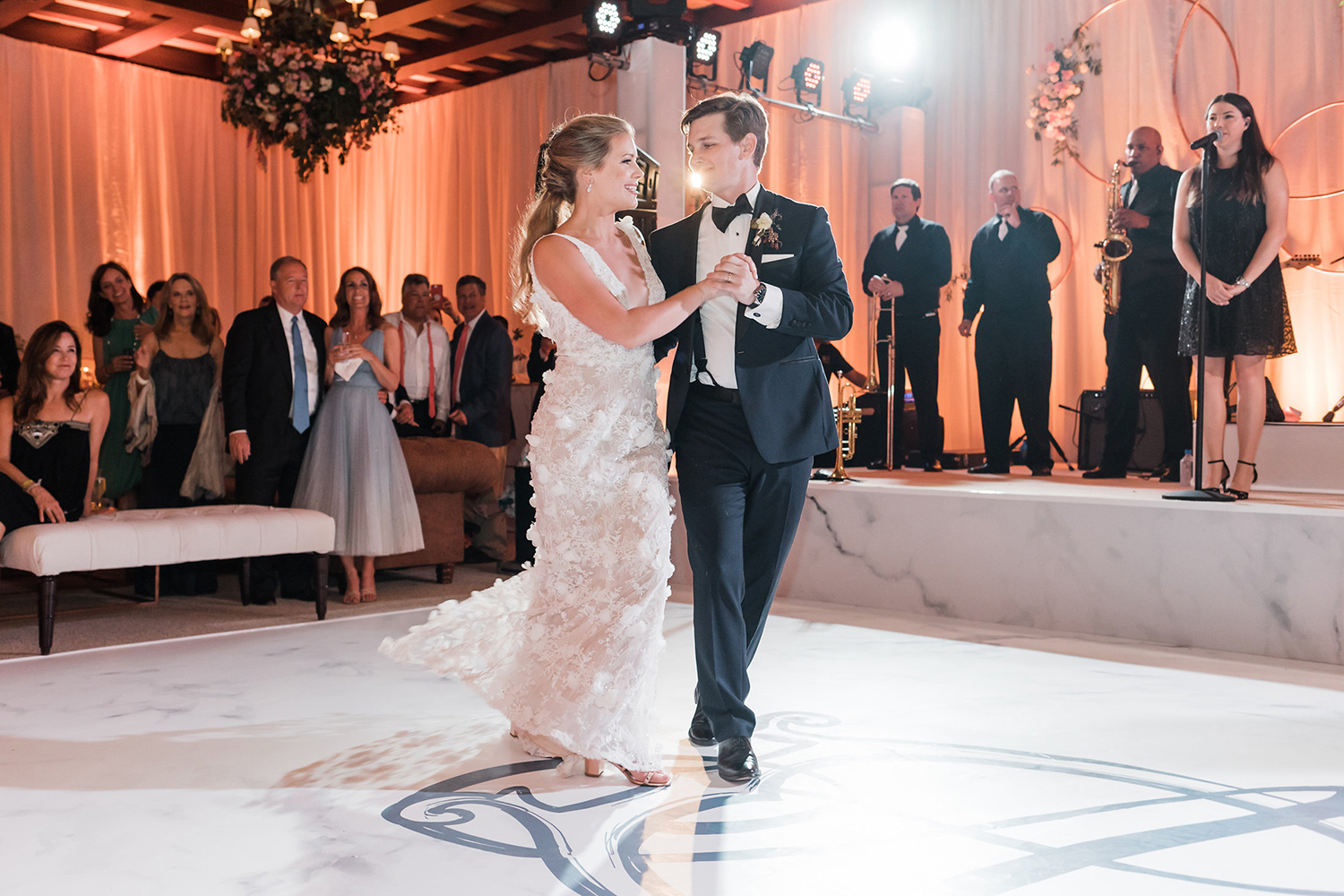 first dance - indoor reception