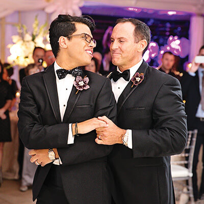 real wedding, Anthony, Dowd, Richard, Ray, Kat Creech, gay, LGBT, same-sex groom, fashion, Darryl, s