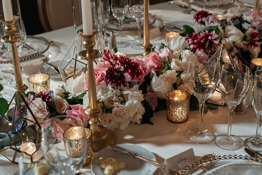 floral centerpiece - reception decor