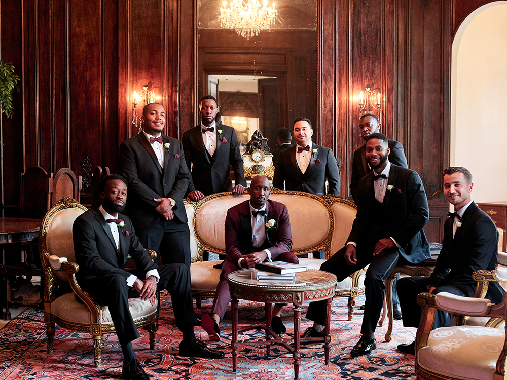 groomsmen, photography, Burgundy, Ivory, gold, wedding