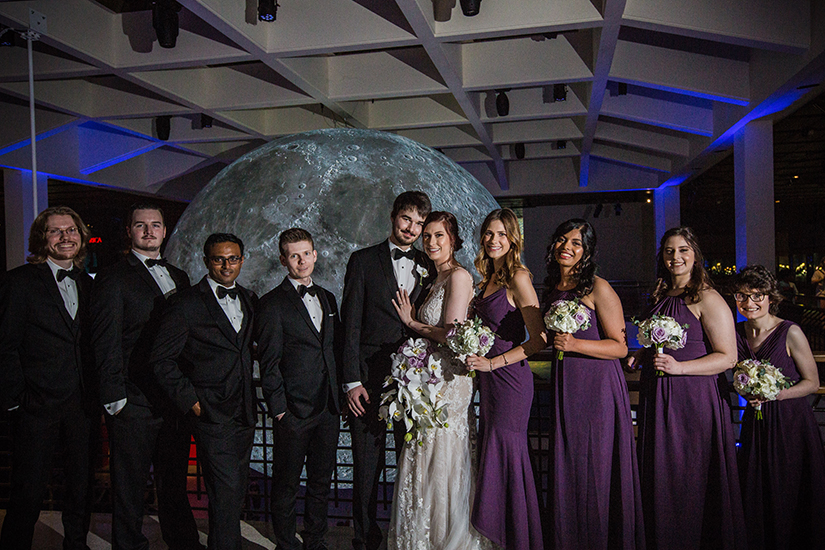 wedding party - houston museum of natural science