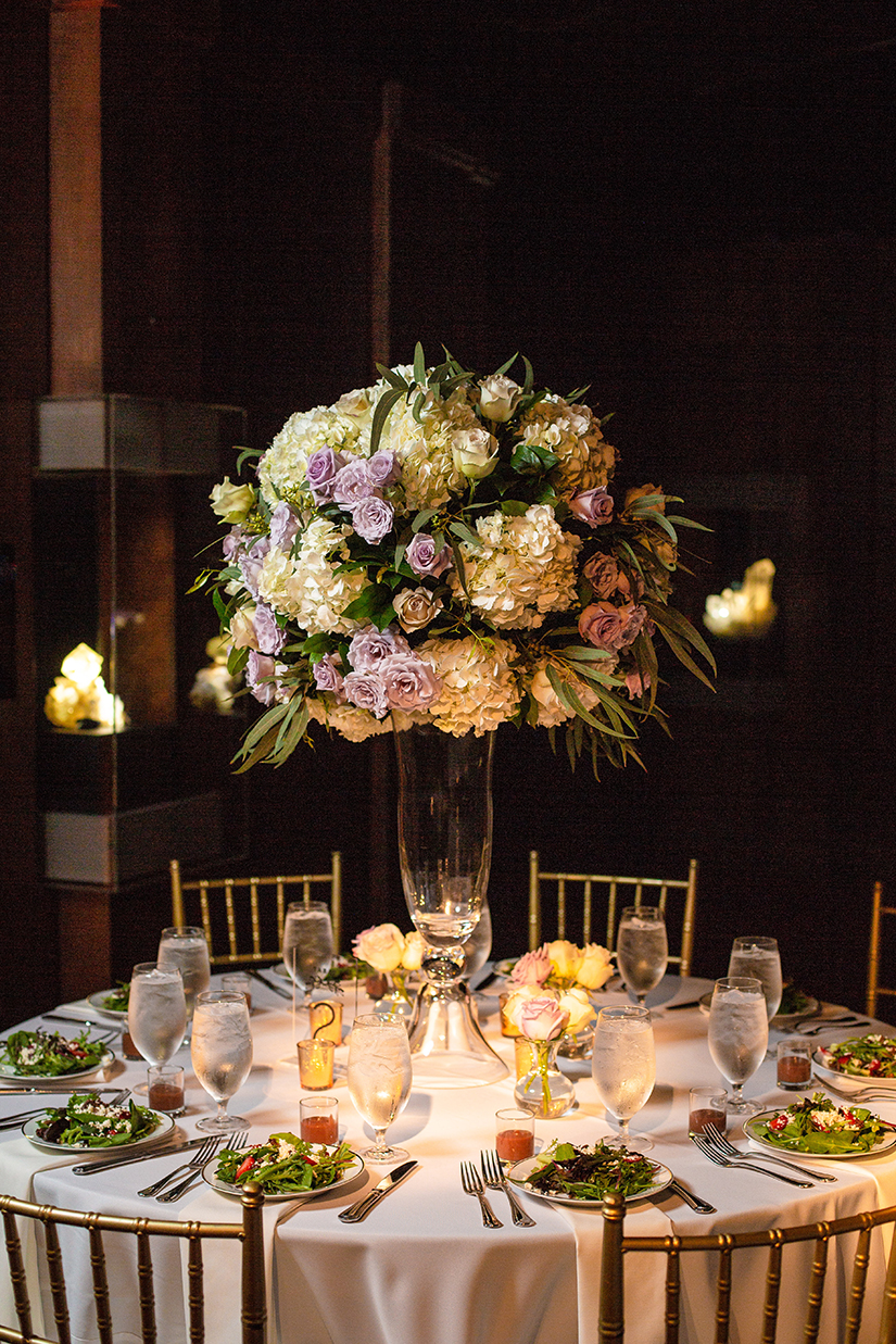 wedding reception decor - floral centerpieces