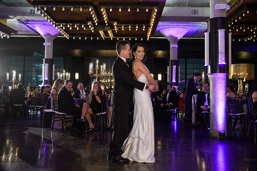 dance floor, houston wedding, the astorian, brida, reception, first dance