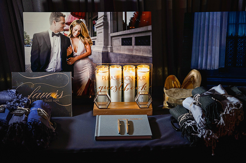houston wedding, candles, guestbook, favors